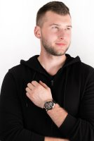 Zegarek czarny Bulova Automatic 98A177 pasek - duże 4