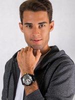 Zegarek czarny fashion/modowy  Daddies DZ7422 bransoleta - duże 4