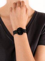 Zegarek czarny fashion/modowy Cluse Triomphe CL61004 bransoleta - duże 5