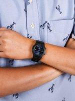 Zegarek czarny klasyczny  Analogowo - cyfrowe AW-49HE-2AV pasek - duże 5