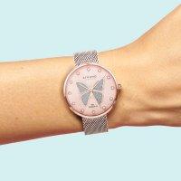 Zegarek czarny klasyczny  Butterfly S700LXVVMV-DB bransoleta - duże 7