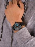 Zegarek czarny klasyczny Aviator Airacobra V.1.22.5.188.4 pasek - duże 5