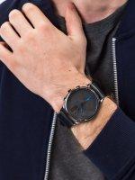 zegarek Bisset BSFE89BIBD03AX Ice II Ceramic Chronograph męski z chronograf Nowoczesne