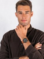 Zegarek czarny klasyczny Citizen Ecodrive CA7045-14E pasek - duże 4