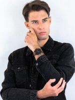 Zegarek czarny klasyczny Fossil The Minimalist FS5305 pasek - duże 4