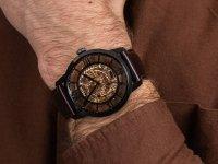 Zegarek czarny klasyczny Fossil Townsman ME3098 pasek - duże 6