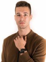 Zegarek czarny klasyczny Glycine Combat GL0093 pasek - duże 4