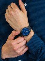 Zegarek czarny klasyczny Skagen Holst SKW6450 bransoleta - duże 5