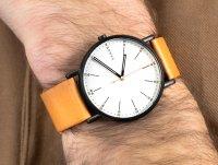 Zegarek czarny klasyczny Skagen Signatur SKW6352 pasek - duże 6
