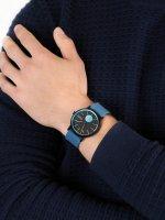Zegarek czarny klasyczny Skagen Signatur SKW6539 pasek - duże 5