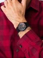 Zegarek czarny klasyczny Skagen Signatur SKW6540 pasek - duże 5