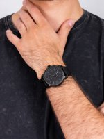 Zegarek czarny klasyczny Timex Easy Reader TW2R64300 pasek - duże 5