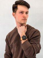 Zegarek czarny klasyczny Timex Essex Avenue TW2U15100 pasek - duże 4