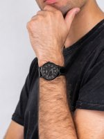 Zegarek czarny klasyczny Timex Waterbury TW2P95900 pasek - duże 5