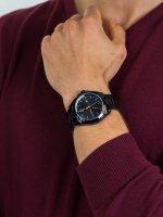 Zegarek czarny klasyczny Tommy Hilfiger Męskie 1791688 bransoleta - duże 5