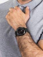 Zegarek czarny klasyczny Tommy Hilfiger Męskie 1791714 bransoleta - duże 5