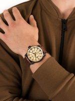 Zegarek czarny klasyczny Vostok Europe Ekranoplan NH35A-546C513 pasek - duże 5
