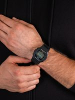 Zegarek czarny sportowy  G-SHOCK Original DW-5600E-1VZ pasek - duże 5
