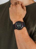 Zegarek czarny sportowy  G-SHOCK Original GA-140-1A4ER pasek - duże 5
