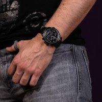 Bisset BSCE87BIBX05AX zegarek czarny sportowy Sportowe pasek