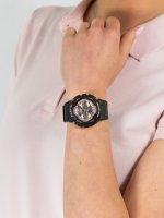 Zegarek czarny sportowy Casio Baby-G BA-130-1A4ER pasek - duże 5