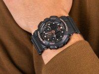 Zegarek czarny sportowy Casio G-SHOCK Original GA-100GBX-1A4ER pasek - duże 6