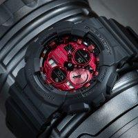 Zegarek czarny sportowy Casio G-SHOCK Original GA-140AR-1AER pasek - duże 7