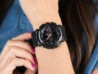 Zegarek czarny sportowy Casio G-SHOCK S-Series GMA-S140-1AER pasek - duże 6