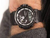 Zegarek czarny sportowy Casio ProTrek PRW-60YBM-1AER pasek - duże 6