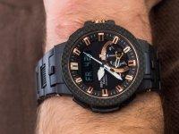Zegarek czarny sportowy Casio ProTrek PRW-7000X-1ER pasek - duże 6