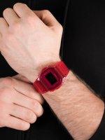 Zegarek czerwony sportowy Casio G-SHOCK Original DW-5600SB-4ER pasek - duże 5