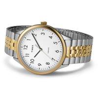 Timex TW2U40000 zegarek srebrny klasyczny Easy Reader bransoleta