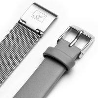 Adriatica A3646.5113QGR-SET zegarek srebrny klasyczny Bransoleta bransoleta