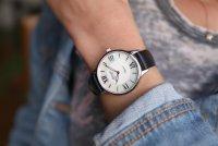 Atlantic 29038.41.08L zegarek srebrny klasyczny Elegance pasek