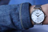 Atlantic 29038.41.21MB zegarek srebrny klasyczny Elegance bransoleta