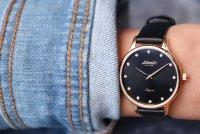 Atlantic 29038.44.67L zegarek różowe złoto klasyczny Elegance pasek