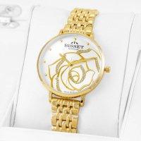Bisset BSBF32GISX03BX zegarek złoty klasyczny Klasyczne bransoleta