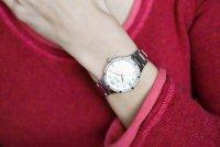 Bulova 96L264 zegarek srebrny klasyczny Diamond bransoleta