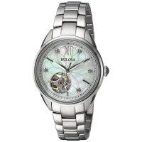 Bulova 96P181 zegarek srebrny klasyczny Diamond bransoleta