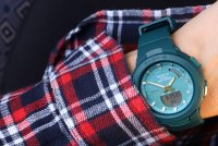 Baby-G BSA-B100AC-3AER zegarek zielony sportowy Baby-G pasek