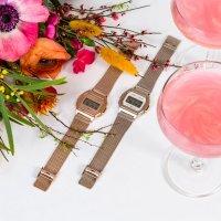 Casio Vintage A1000MCG-9EF zegarek różowe złoto retro Vintage bransoleta