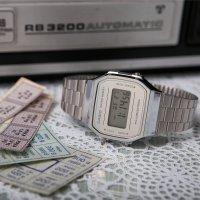 Casio Vintage A168WEM-7EF VINTAGE Maxi MIRROR FACE zegarek damski sportowy mineralne
