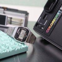 Casio Vintage ZESTAW-19-CV-GIFT-SET-SILVER Vintage CASIO A158WEAD-1EF + KALKULATOR CASIO SL-1000SC + DŁUGOPIS zegarek damski fashion/modowy akrylowe
