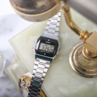 zegarek Casio Vintage ZESTAW-19-CV-GIFT-SET-SILVER kwarcowy damski Vintage CASIO A158WEAD-1EF + KALKULATOR CASIO SL-1000SC + DŁUGOPIS