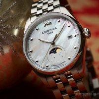 Certina C033.257.11.118.00 zegarek srebrny elegancki DS-8 bransoleta