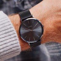 Cluse CLG015 SPECIAL EDITION MESH/DARK GREY GIFT BOX zegarek klasyczny La Boheme
