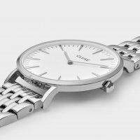 Cluse CW0101201023 zegarek srebrny klasyczny La Boheme bransoleta