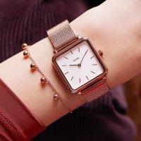 Cluse CLG014 zegarek różowe złoto fashion/modowy La Tetragone bransoleta