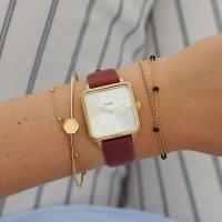 Cluse CL60009 Gold/Scarlet Red zegarek klasyczny La Tetragone