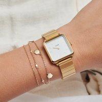 zegarek Cluse CL60023S kwarcowy damski La Tetragone Single Link Gold/White